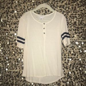 jersey style t shirt with buttons